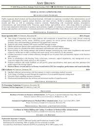 medical front office resume summary cover letter for assistant