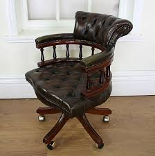 Antiques Atlas - Victorian Style Leather Revolving Office Chair