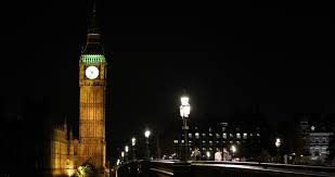 Night Light Evening Westminster Palace London Landmark Parliament