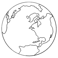 Globe Coloring Pages For Kids Vosvetenet