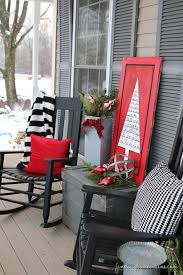 Red Patio Furniture Pinterest by Best 25 Christmas Porch Decorations Ideas On Pinterest