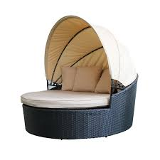 100 Retractable Patio Chairs Magari Sole II Outdoor Round Daybed With Canopy