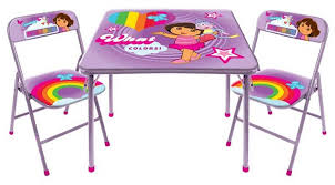 amazon com dora the explorer square table and chair set toys games