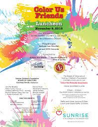 100 Denise Rosselli Color Us Friends Luncheon Sunrise Childrens Foundation