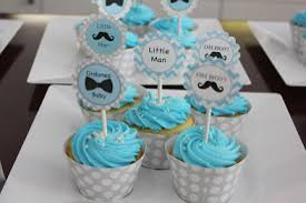 DIY Little Man Themed Cupcake Toppers