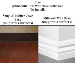 johnsonite 960 wall base adhesive 30 oz cove base adhesive