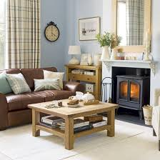 Living Room Ideas Brown Leather Sofa by I Like The Classic Look And The Pale Blue Walls Living Rooms