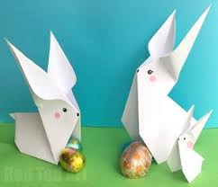 Paper Rabbit DIY Another Easy Bunny Origami