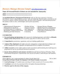 Business Manager Resume Sample1