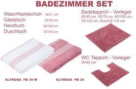 badezimmer set serie uni altrosa fb39