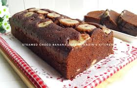steamed choco banana cake by andin s kitchen