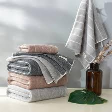 100 baumwolle handtücher 2 stück bad handtücher set badezimmer luxus weichen braun grau 28 x 55