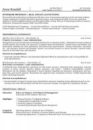 Executive Property Manager Accounting Resume Superior Or Real Estate Example Sample