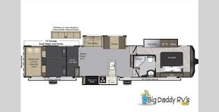Raptor 5th Wheel Toy Hauler Floor Plans by New Raptor 424ts New Floor Plan Available At Big Daddy Rv U0027s Big