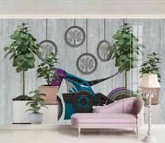 fototapete grün zimmerpflanze und lila nr dec 5925 uwalls de
