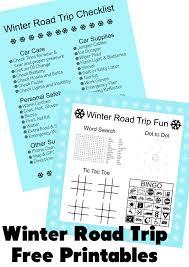 Winter Road Trip Free Printables