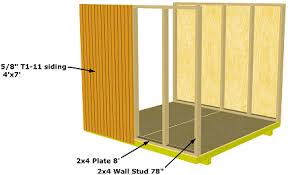 gable storage shed sidewall installation details
