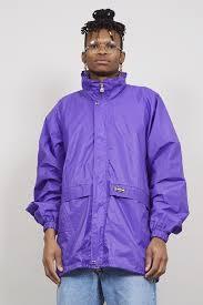 Purple Vintage 90s K Way Oversized Shell Sports Jacket