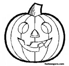Coloring Pages Halloween Pumpkin Intended For Free Printable