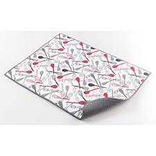 tapis d evier de cuisine ligne décor easy deco tapis d evier microfibre polyester gris 50 5