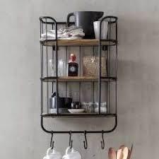 küche regale schwarz metall