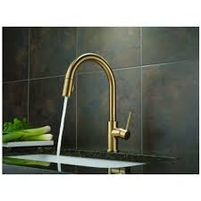 Delta Lahara Faucet Champagne Bronze by Delta 9159 Cz Dst Trinsic Single Handle Pull Down Kitchen Faucet