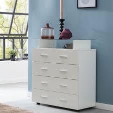 finebuy design sideboard fb52340 weiß hochglanz 76x84x35 cm anrichte holz modern hohe schubladenkommode mit glas ablage kleiner allzweckschrank