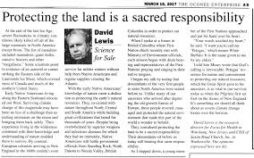 Dr Lewis Article Posted In The Oconee Enterprise Click To Enlarge