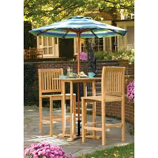 5 Piece Bar Height Patio Dining Set by Patio Ideas Allen Roth Safford 40 In W X 40 In L 4 Seat Bar