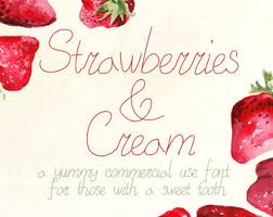 Strawberries And Cream Font Vintage Style Typeface Cursive Commercial Use Hand