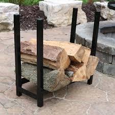 "Sunnydaze Décor Indoor Outdoor Firewood Rack – 24"" H"