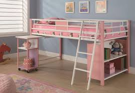 Wooden Loft Bed Design by Bedroom L Shaped Cream Maple Wood Loft Bunk Bed With Storage