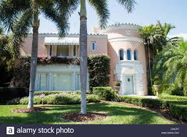 100 Mediterranean Architecture Design Miami Beach Florida Flamingo Drive Home House Residence Modern Stock
