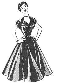 Vintage Ladies Dresses Clipart