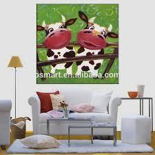 handgemachte malerei moderne kunst lustige tiere kuh für schlafzimmer dekorieren wohnzimmer kinder zimmer home decor buy handgemachte malerei
