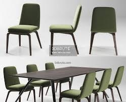 100 Minotti Dining Table Minotti Evans York Chair 3dbrute 3dmodel