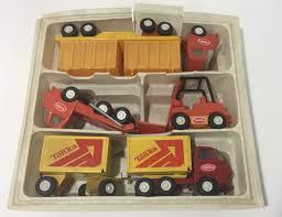 100 Tonka Mini Trucks 5pc Vintage TONKA Truck Set Original Plastic Holder Two 9