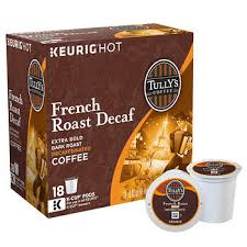 Tullys Decaf French Roast Coffee 180 K Cup Pods