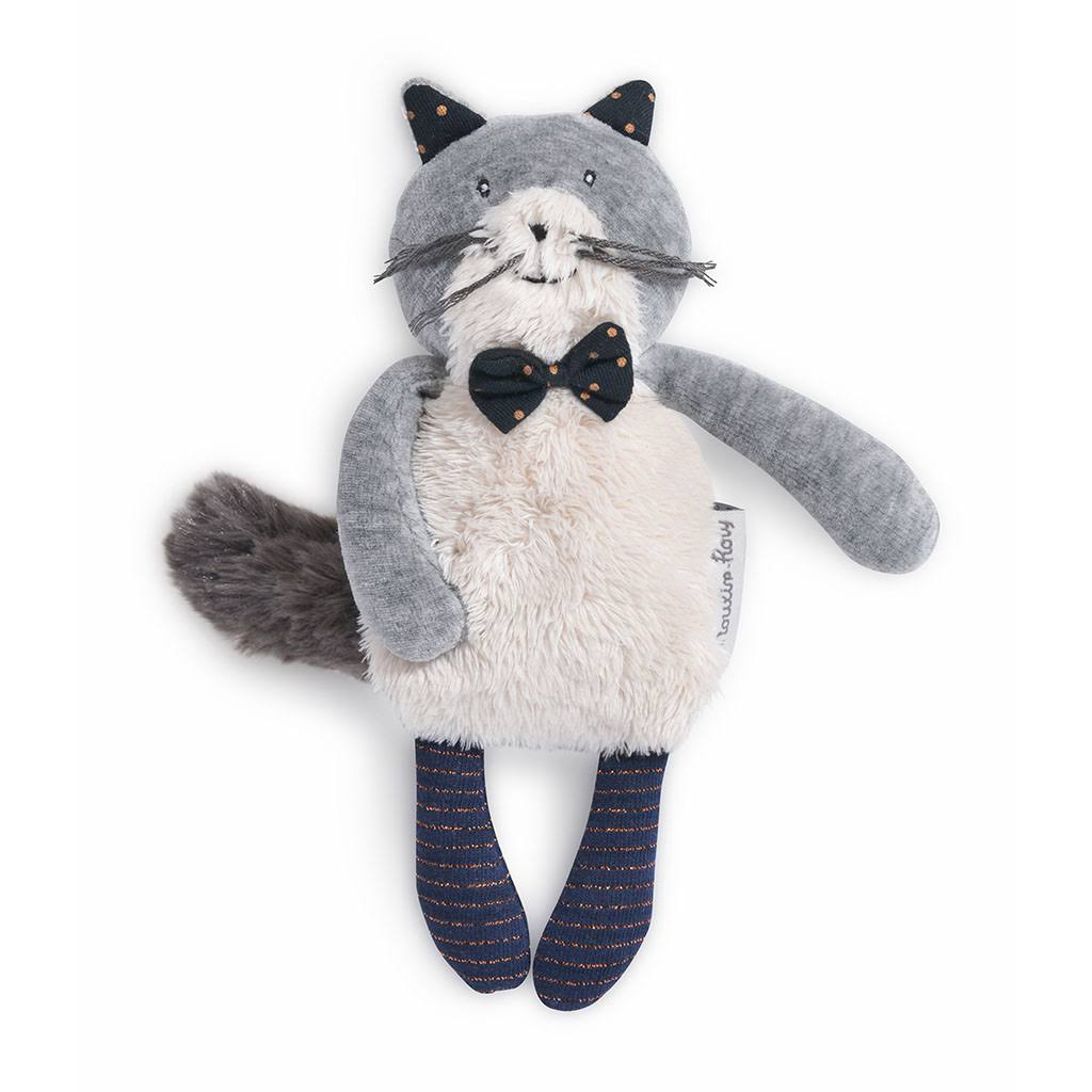 Monty Roty Les Moustaches Small Soft Toy - Fernand The Light Grey Cat