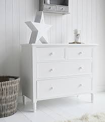New England white chest of drawers Simple Plain Bedroom hall or