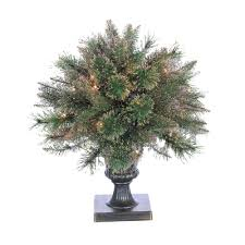 Pre Lit Fiber Optic Cashmere Artificial Christmas Tree With Gold Glittered