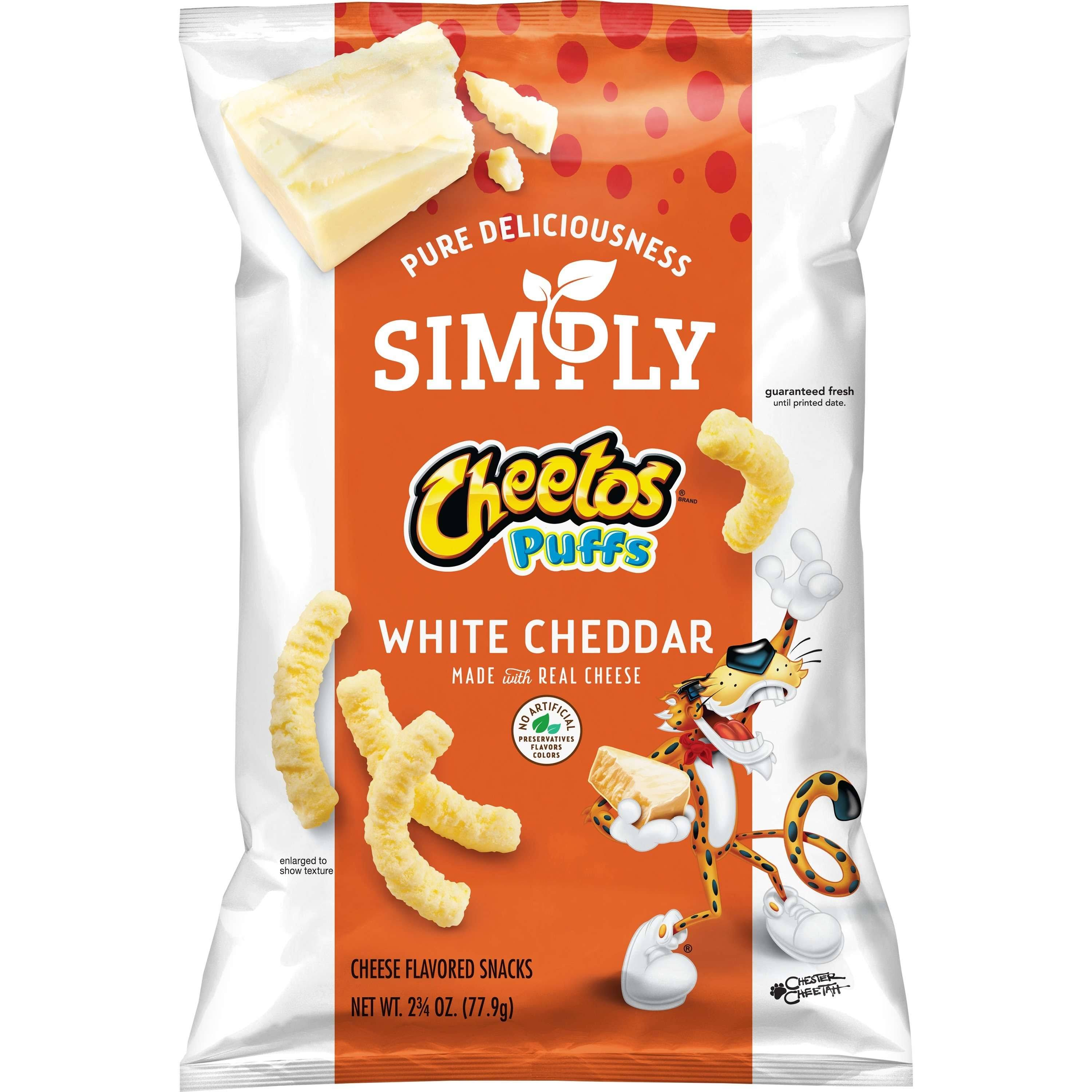 Cheetos Puffs Cheese Flavored Snacks, White Cheddar - 2.75 oz