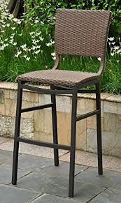 Amazon Wicker Resin Aluminum Patio Bar Stool Set of 2