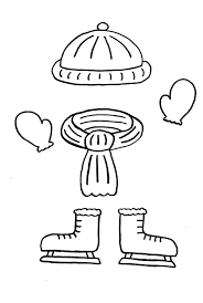 Winter Clothing Colouring Pages Coloring Clothes Sheets