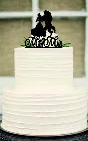 Silhouette Wedding Cake Topper Unique