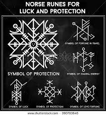 Futhark Norse Runes Set Magic Symbols Used As Scripted Talismans For Luck Love And Protection