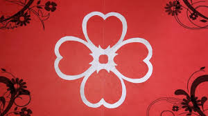 Simple Paper Cutting Art Kirigami Heart Flower Design How To