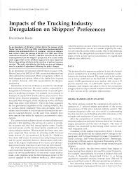 100 Trucking Deregulation Impacts Of The Industry On Shippers