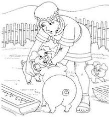 The Prodigal Son With Pigs Luke 15