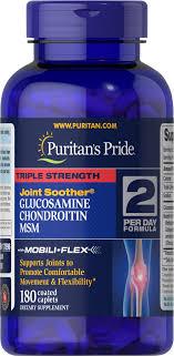 Triple Strength Glucosamine, Chondroitin & MSM 180 Ct ...